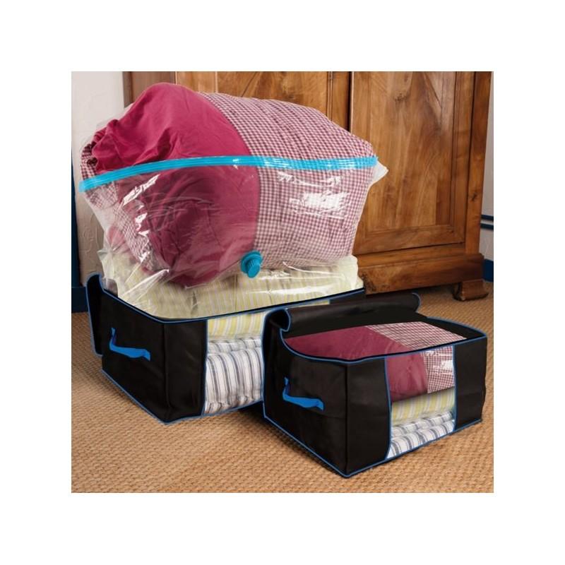 7 housses sous vide 5 housses 2 coffres pour gagner 75 de volu. Black Bedroom Furniture Sets. Home Design Ideas