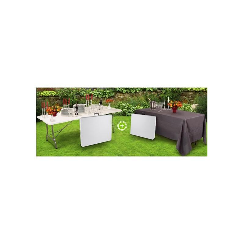 2 tables pliantes d 39 appoint pour des r ceptions r ussies pack promo. Black Bedroom Furniture Sets. Home Design Ideas