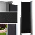 Paravent extérieur rétractable 300x160cm noir store vertical