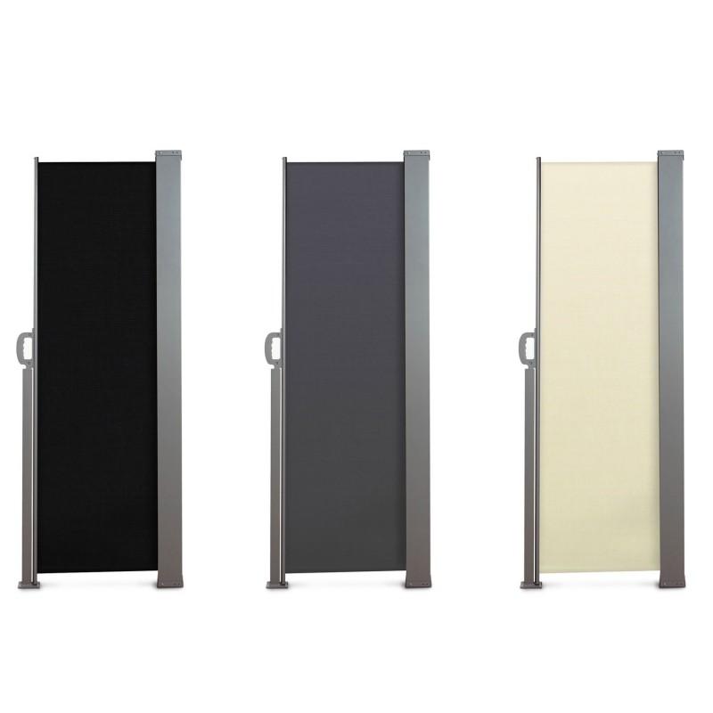 Paravent ext rieur r tractable 300x160cm noir store for Store exterieur vertical