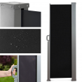 Paravent extérieur rétractable 300x200cm noir store vertical