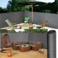 Brise vue renforcé 1 x 10 m gris 220 gr/m² luxe pro