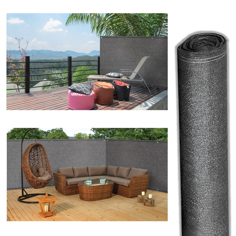 brise vue gris 1 8m x 10m occultant 220g m2 id market. Black Bedroom Furniture Sets. Home Design Ideas