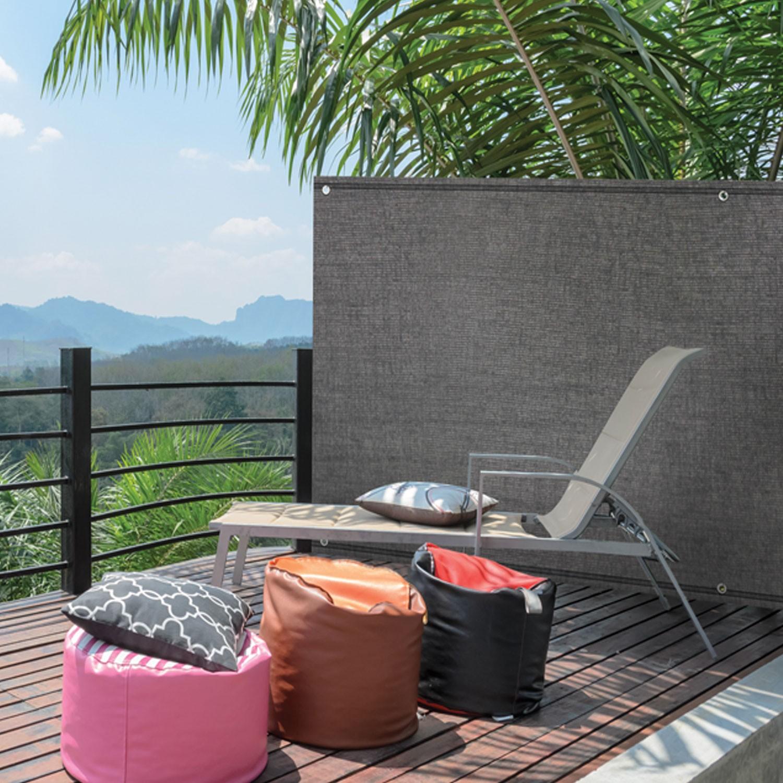 brise vue renforc 1 8 x 10 m gris 220 gr m luxe pro brise vues e. Black Bedroom Furniture Sets. Home Design Ideas