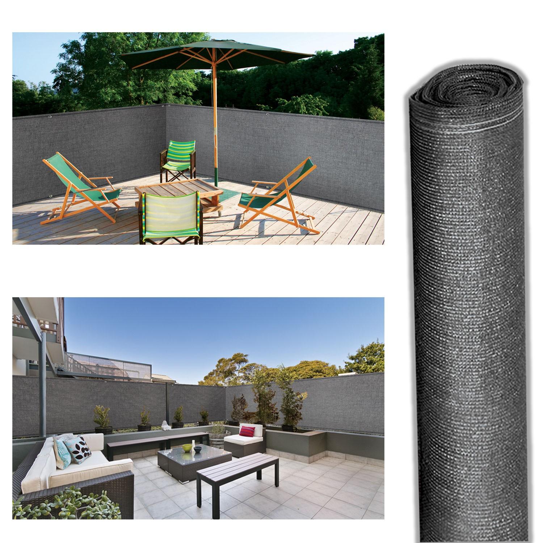 Brise Vue Hauteur 1M70 brise vue renforcé 2 x 10 m gris 220 gr/m² luxe pro probache
