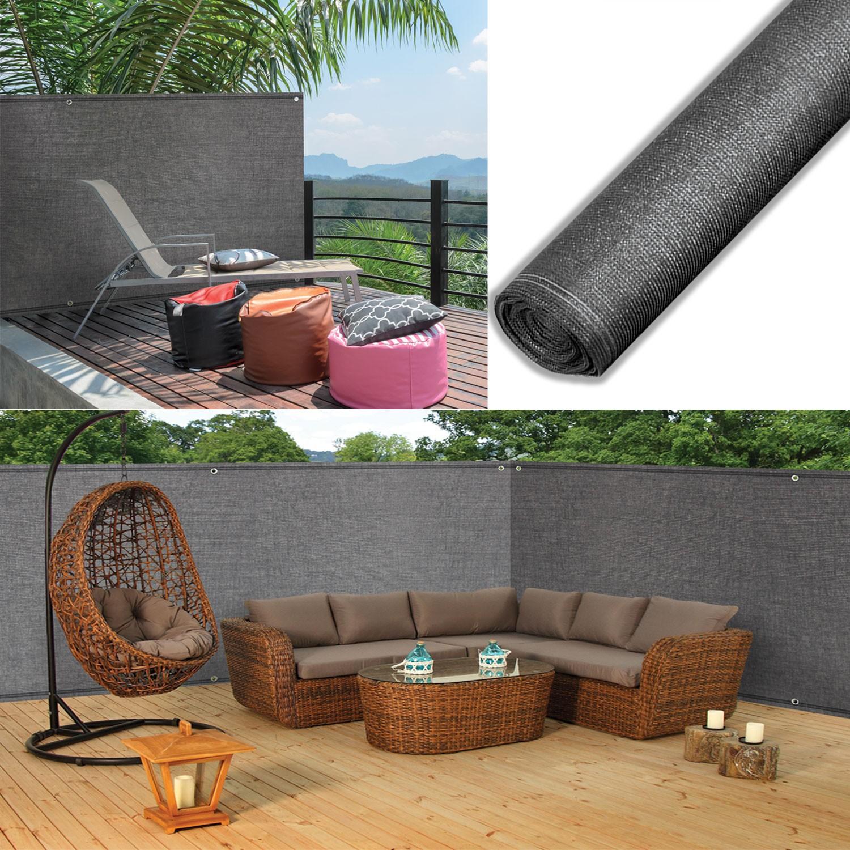 brise vue renforc 2 x 10 m gris 220 gr m luxe pro brise. Black Bedroom Furniture Sets. Home Design Ideas