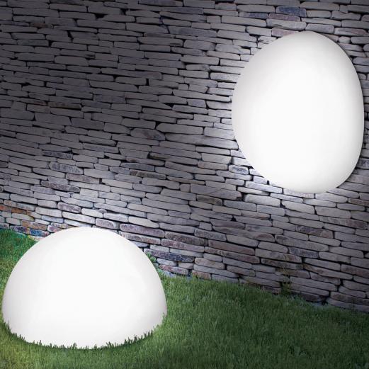 Lampe demi-boule 20 cm 4 leds solaires X2 Eclairage et décoration ...