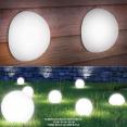 Lampe demi-boule 20 cm 4 leds solaires X2