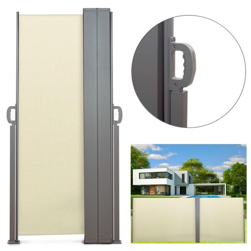 paravent ext rieur r tractable double 600x160cm cru store vertical. Black Bedroom Furniture Sets. Home Design Ideas
