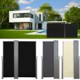 Paravent extérieur rétractable double 600x160cm noir store vertical