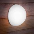 Lampe demi-boule solaire 30 cm design