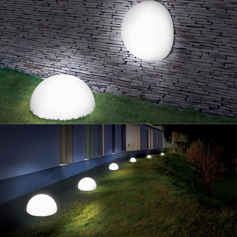 lampe demi boule solaire 30 cm design eclairage et d coration ext. Black Bedroom Furniture Sets. Home Design Ideas