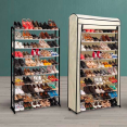 Etagère range chaussures 50 paires ECO avec sa housse écrue