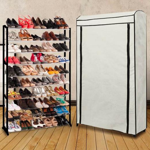 Etag re range chaussures 50 paires eco avec sa housse - Meuble de rangement chaussures ...