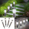 Balise solaire design inox X4 borne de jardin