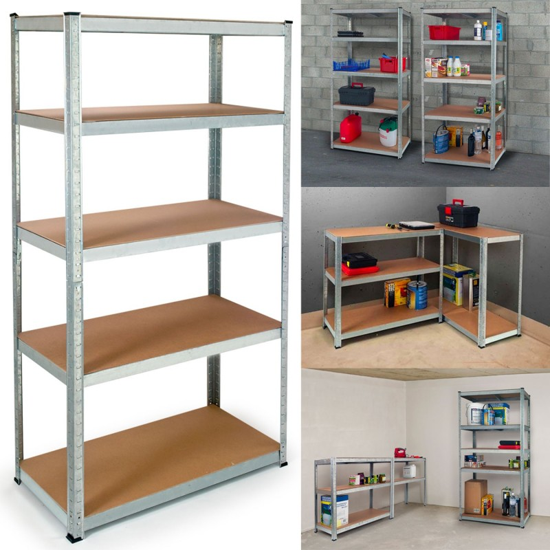 etagere bois metal garage
