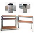 Étagère modulable charges lourdes en métal 5 plateaux