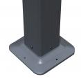 Pergola alu 3x3m tonnelle avec toit rétractable gris