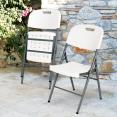 Chaise d'appoint pliante portable pour banquet, pique-nique