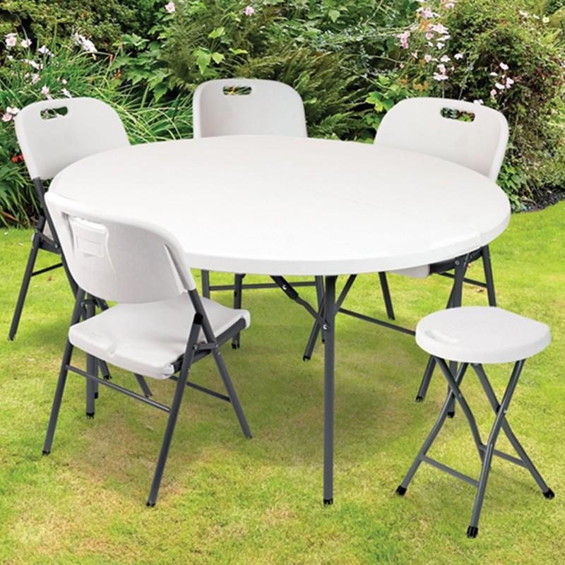 tabouret d 39 appoint pliant portable pour banquet et pique nique cha. Black Bedroom Furniture Sets. Home Design Ideas