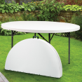 Table ronde pliante d'appoint portable D.122 cm