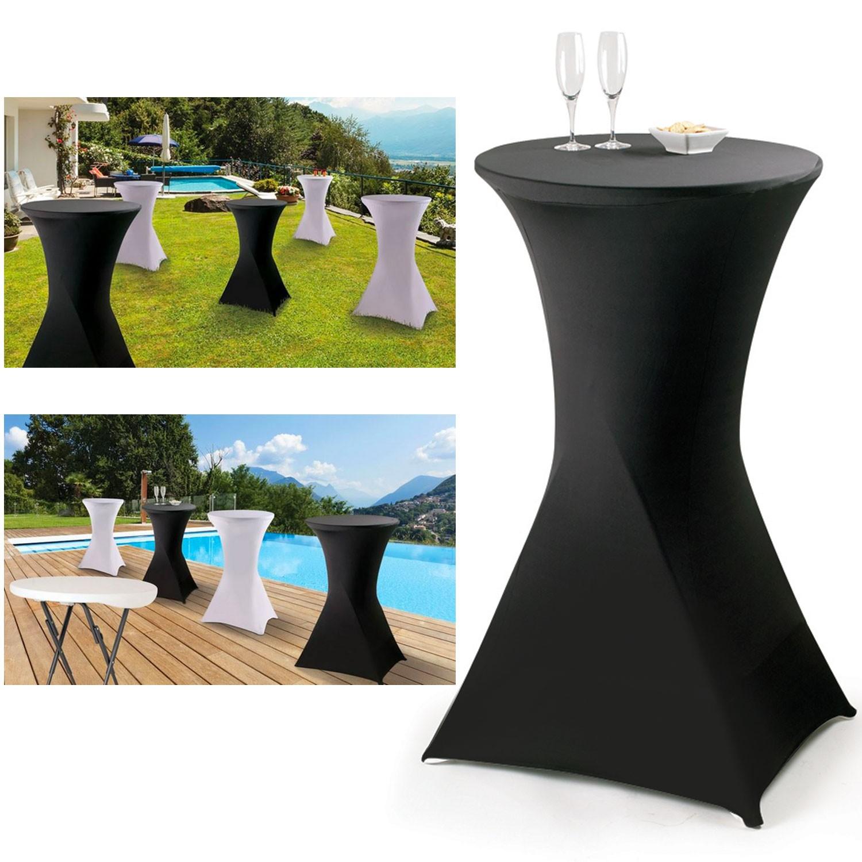 Housse noire pour table haute pliante mange debout for Table haute noire