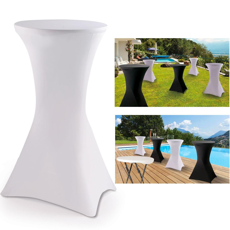 Housse blanche pour table haute pliante mange debout for Equerre pliante pour table