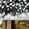Guirlande 100 led solaire blanche decorative