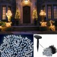 Guirlande solaire 200 led blanches décorative