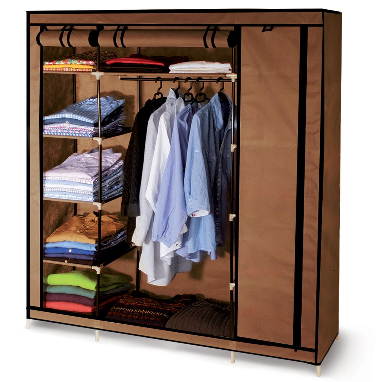 armoire de rangement chocolat dressing penderie xxl tissu meubles. Black Bedroom Furniture Sets. Home Design Ideas