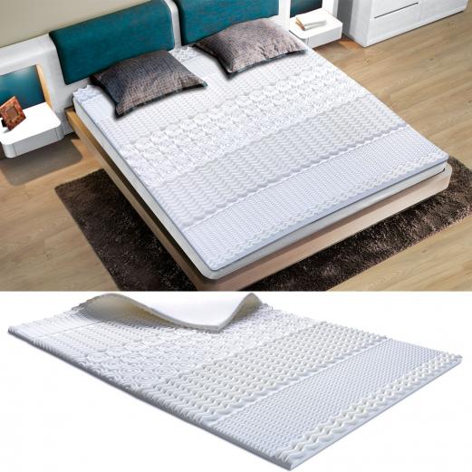 surmatelas mousse m moire de forme 7 zones 160x200 cm confort et. Black Bedroom Furniture Sets. Home Design Ideas