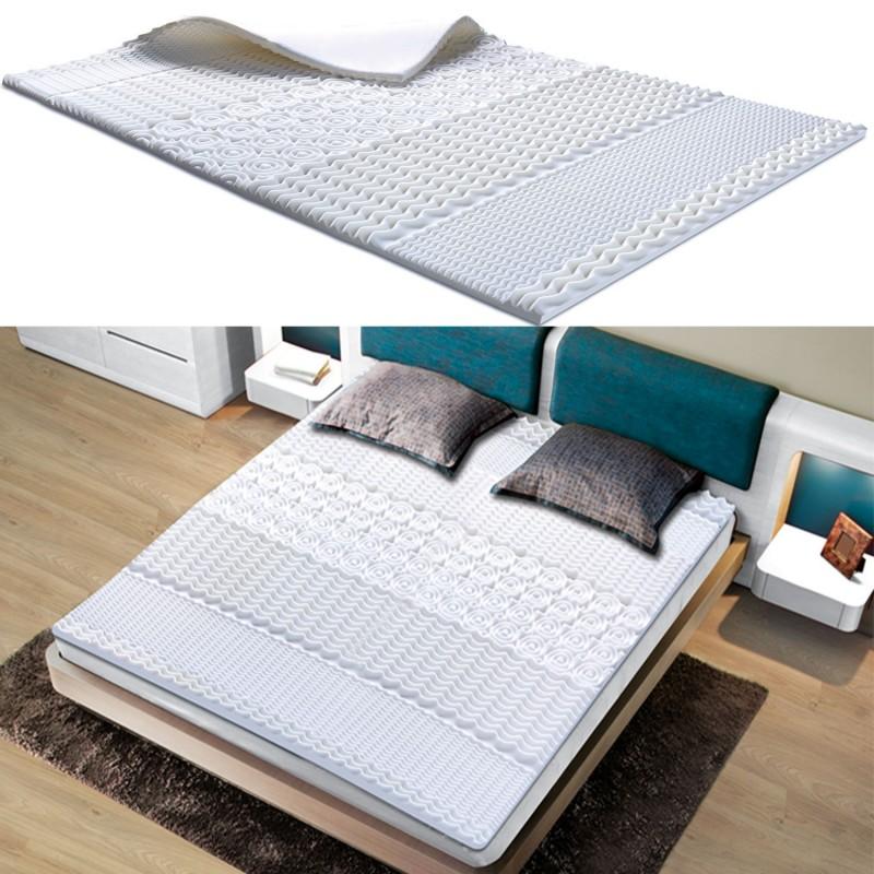 surmatelas mousse m moire de forme 7 zones 160x200 cm confort et l. Black Bedroom Furniture Sets. Home Design Ideas
