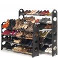 Etagère range chaussures 50 paires modulable et sa housse grise