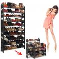 Etagère range chaussures 50 paires modulable et sa housse noire