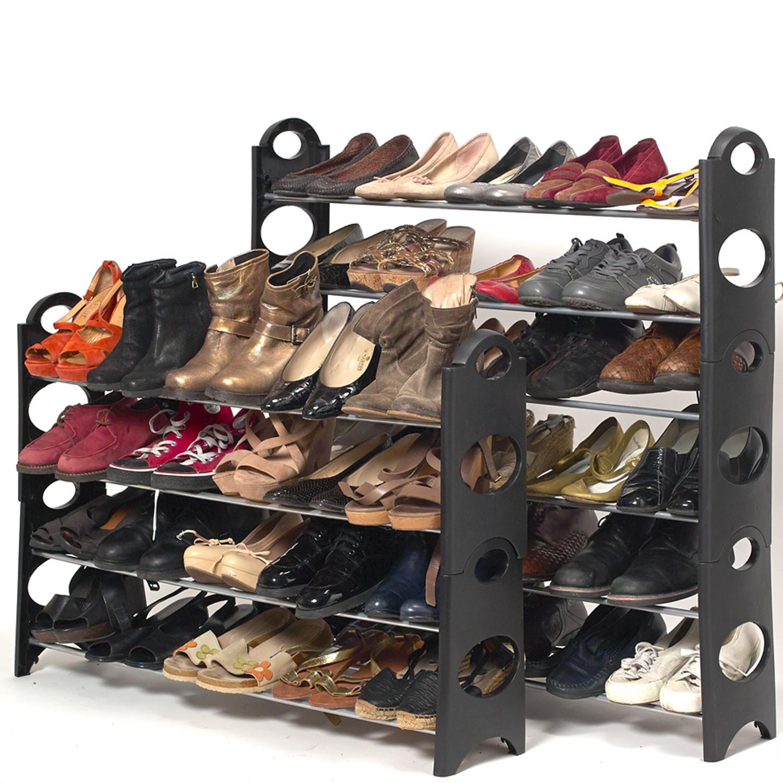 Grand Meuble Chaussure 100 Paires.Etagere Range Chaussures 50 Paires Modulable Housse Noire Probache