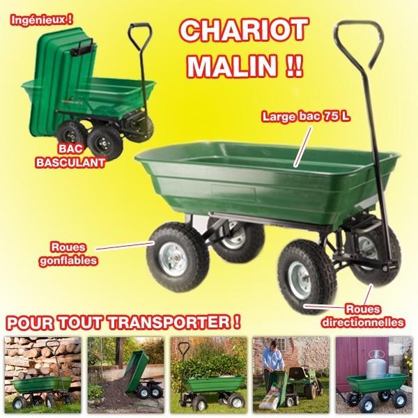 chariot de jardin 4 roues outils de jardin chariot pour. Black Bedroom Furniture Sets. Home Design Ideas