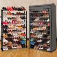 Etagère range chaussures 50 paires ECO avec sa housse grise