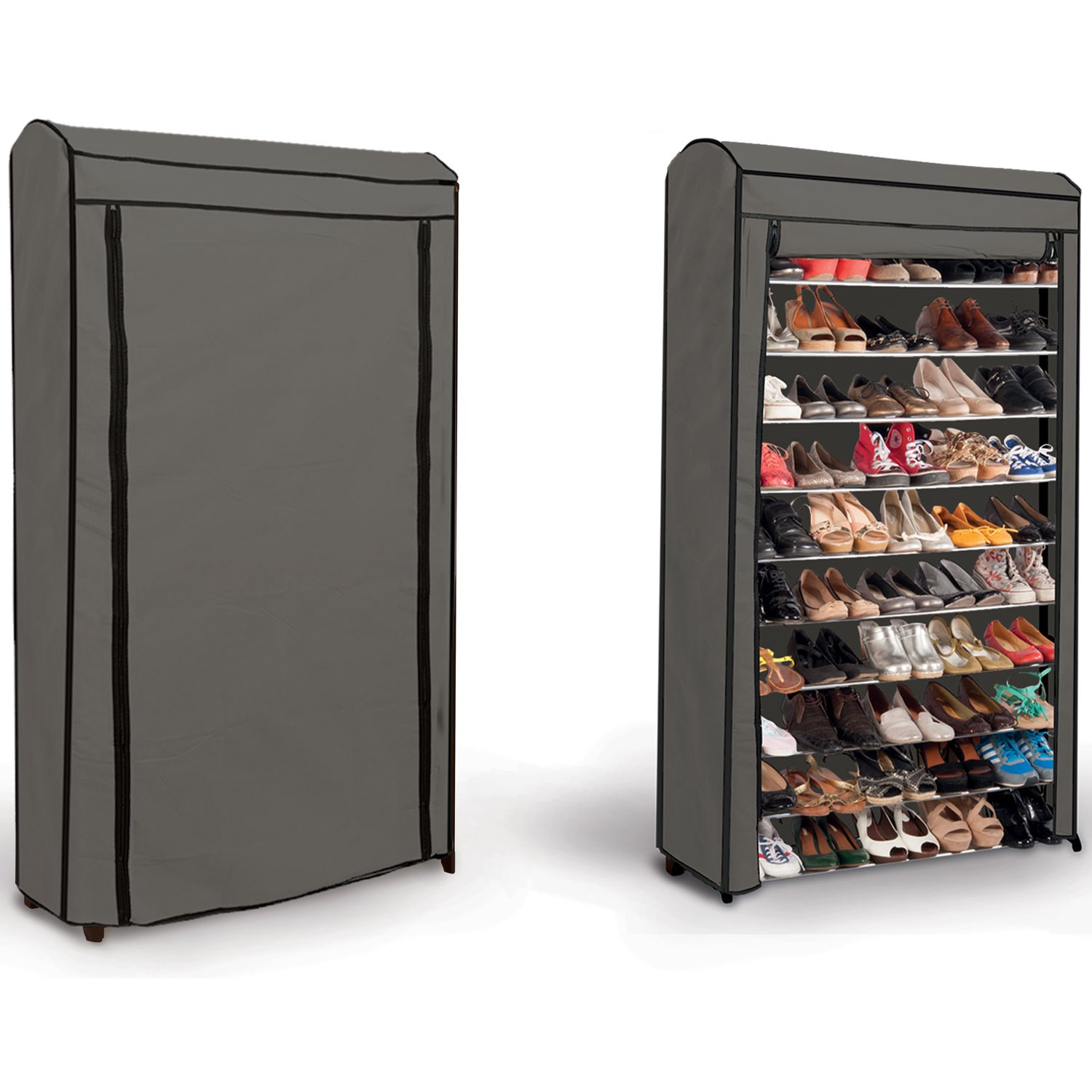 etag re range chaussures 50 paires eco avec sa housse. Black Bedroom Furniture Sets. Home Design Ideas
