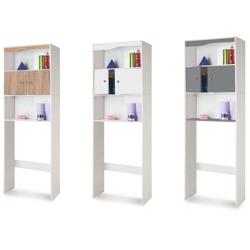 meuble tag re dessus wc bois coloris blanc meubles et. Black Bedroom Furniture Sets. Home Design Ideas