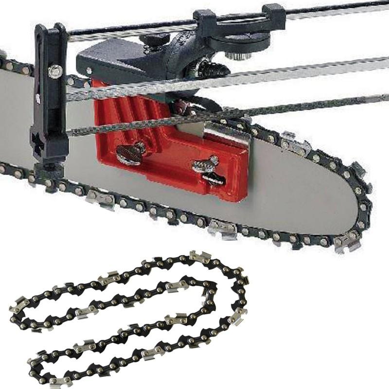 Aff teuse manuelle pour chaine de tron onneuse coupe et - Affutage chaine de tronconneuse ...