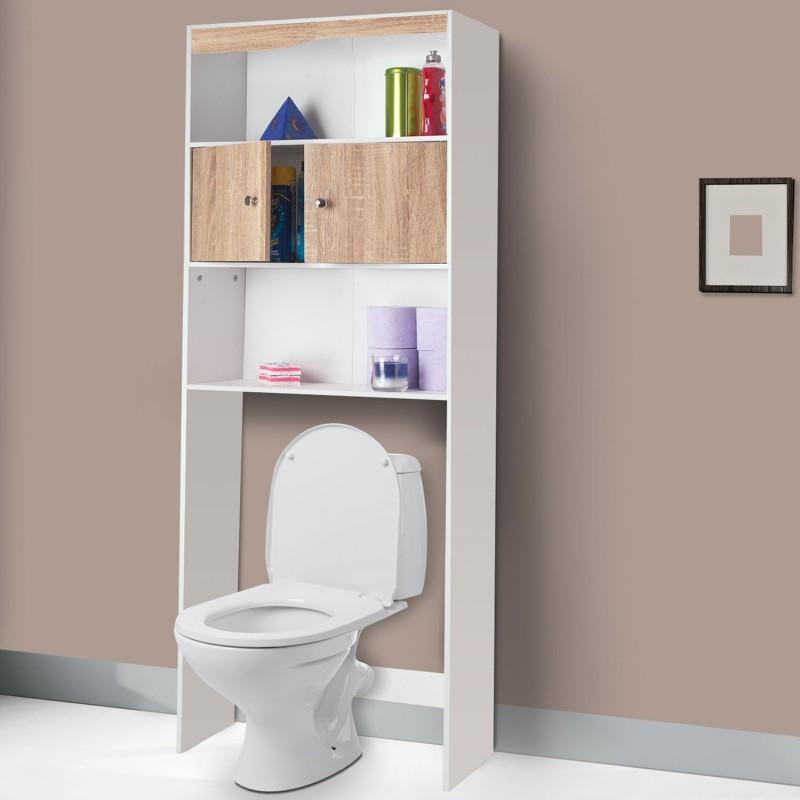 meuble tag re dessus wc bois coloris h tre meubles et. Black Bedroom Furniture Sets. Home Design Ideas