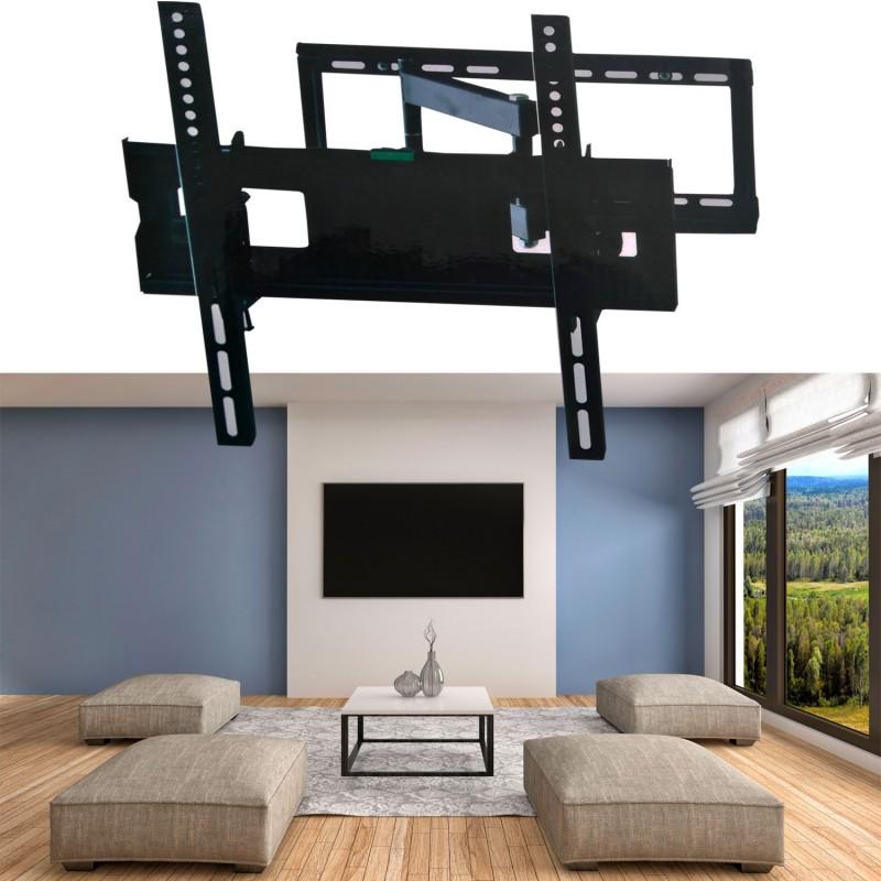 Support tv mural pivotant et inclinable capacit 45 kg - Support tv pivotant ...