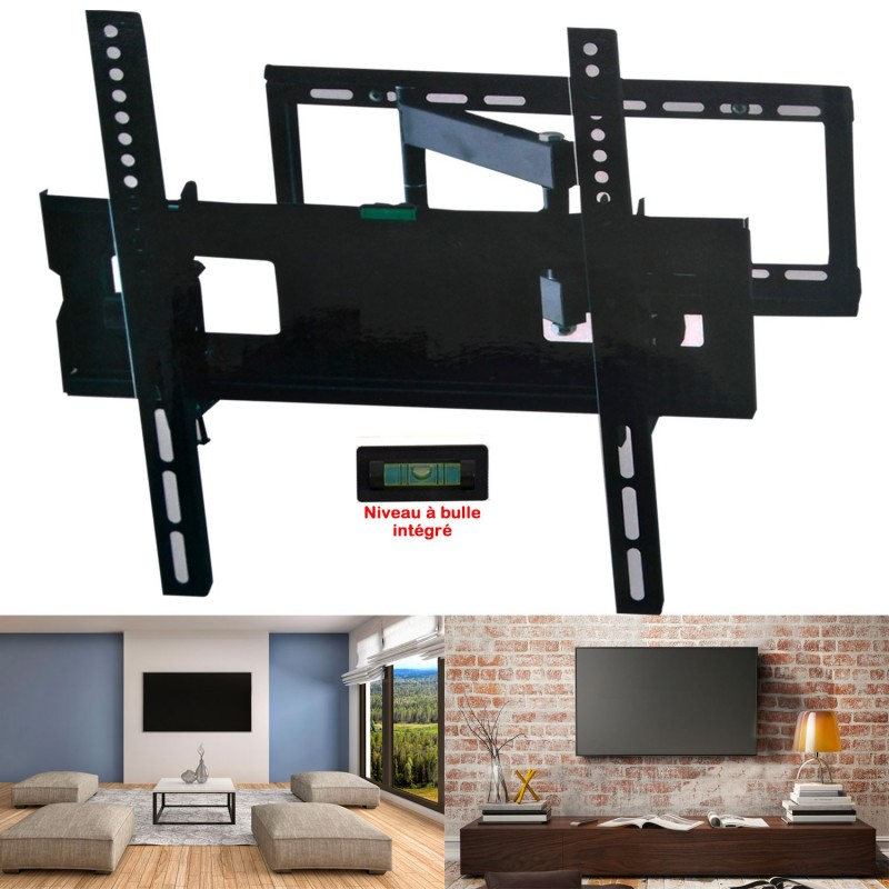 support tv mural pivotant et inclinable capacit 45 kg cran lcd l. Black Bedroom Furniture Sets. Home Design Ideas