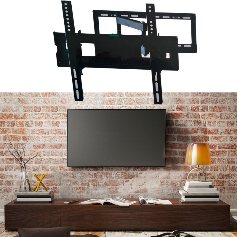support tv mural pivotant et inclinable capacit 45 kg cran lcd l. Black Bedroom Furniture Sets. Home Design Ideas