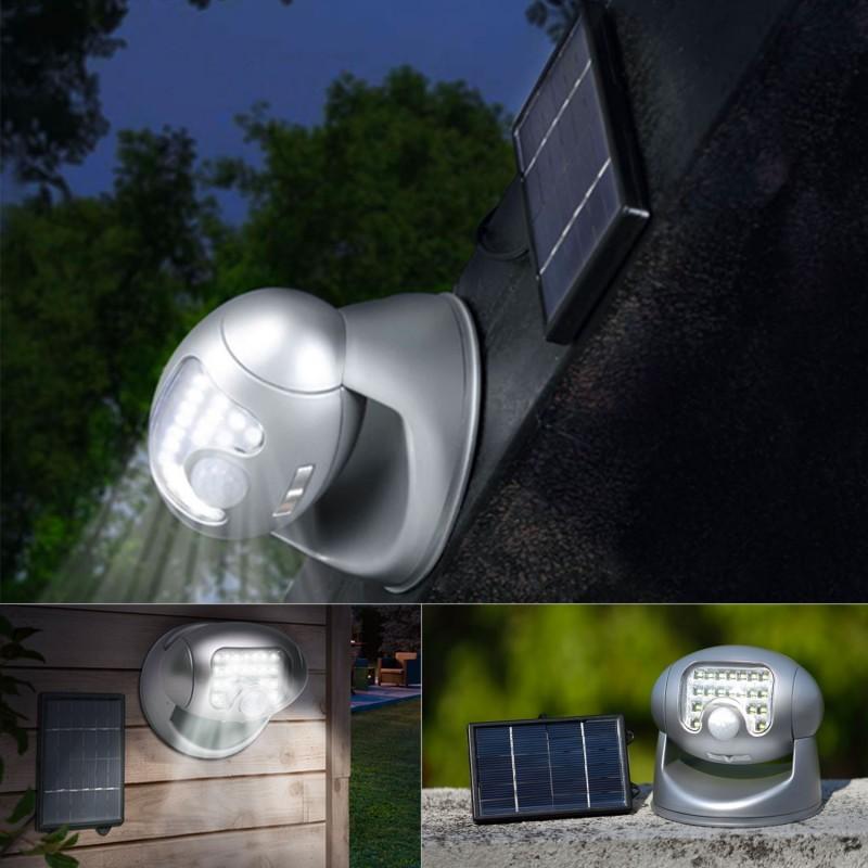 projecteur solaire 20 leds avec d tecteur de mouvement. Black Bedroom Furniture Sets. Home Design Ideas