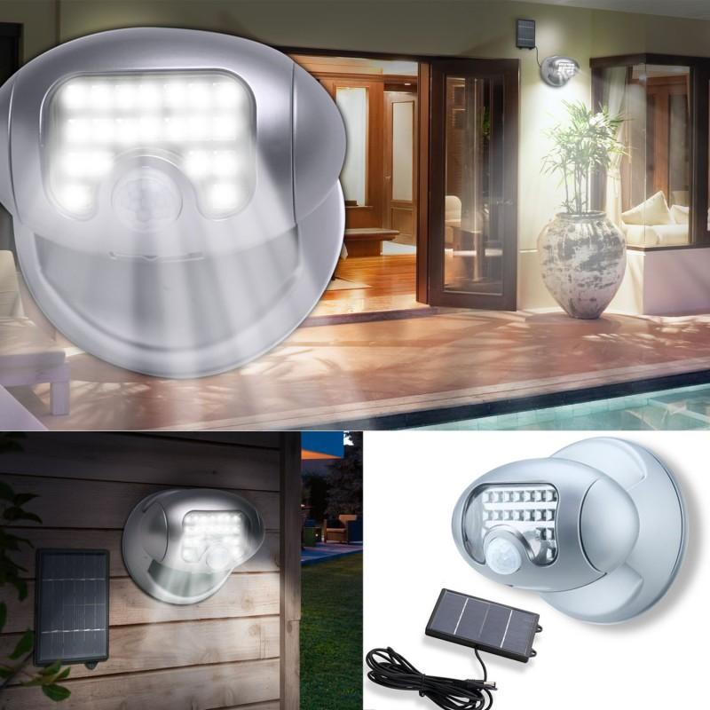 Projecteur solaire 20 leds avec d tecteur de mouvement eclairage for Projecteur led avec detecteur