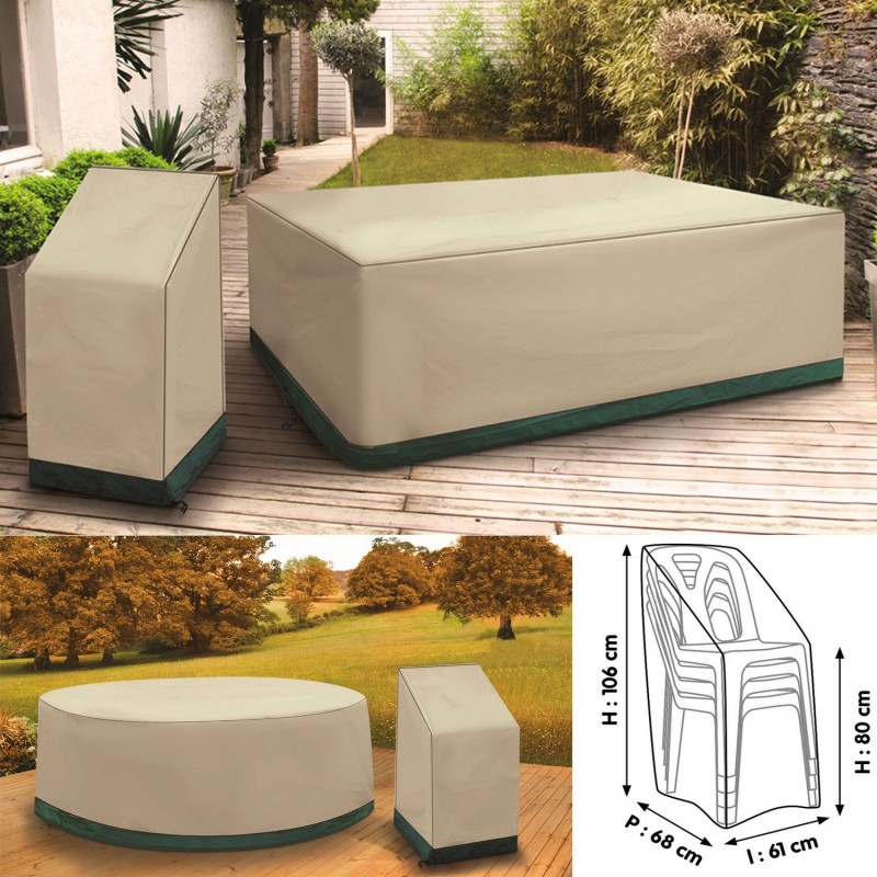 Housse de protection pour table rectangle de jardin et 6 - Housse de table exterieur ...