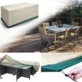 Housse de protection pour table rectangle de jardin et 6 chaises