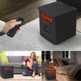 Chauffage infrarouge avec télécommande