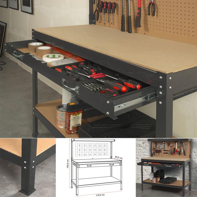 etabli atelier table etabli etabli dans un atelier de. Black Bedroom Furniture Sets. Home Design Ideas